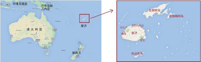 斐济的地理位置?